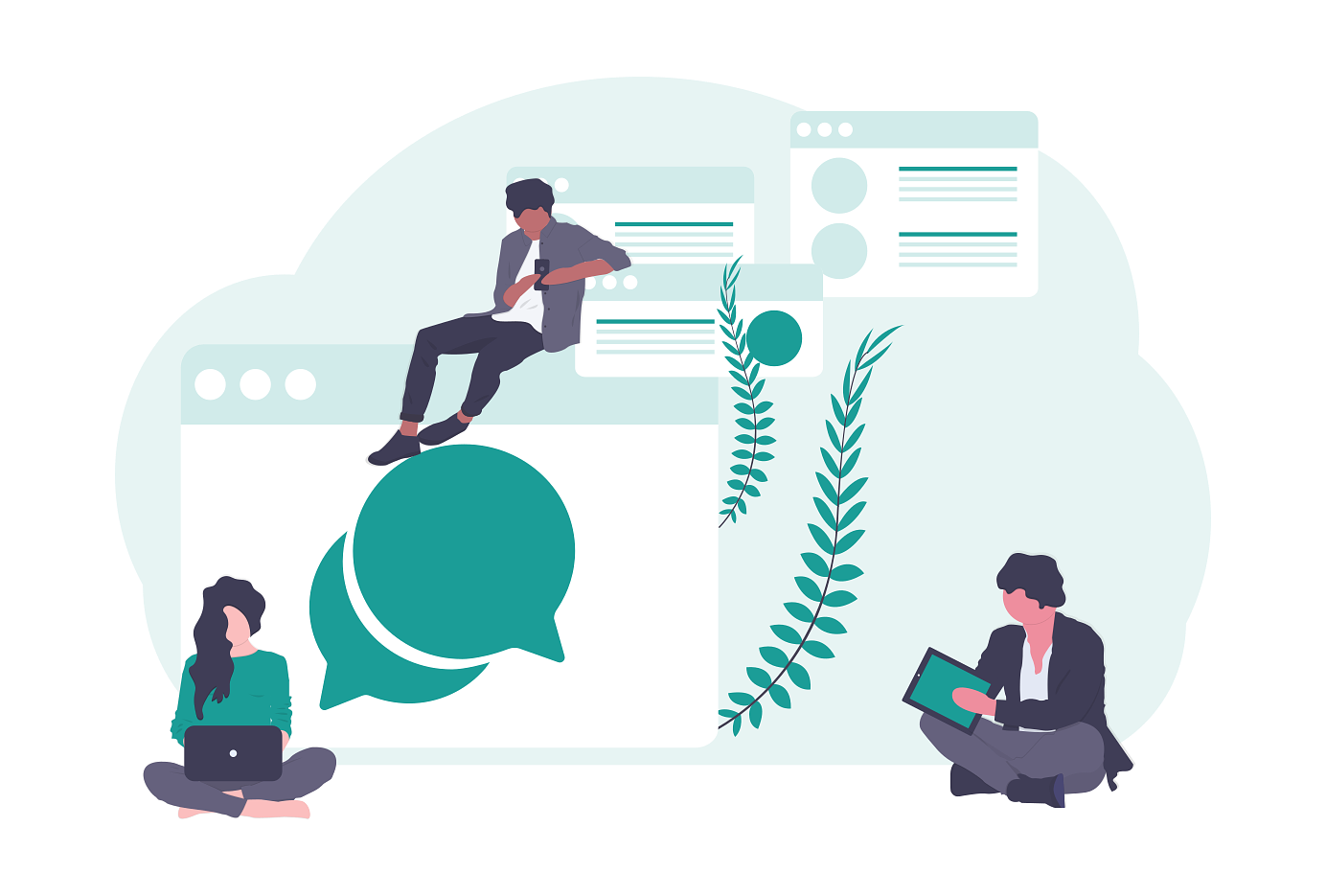 Panton Messaging illustration